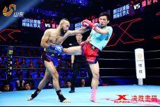 贵阳战将5次读秒终结对手,中亚猛兽重拳炮轰完胜泰拳手