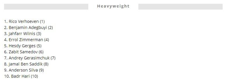 重量级排名