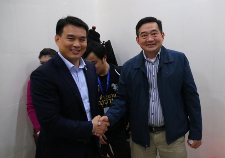 昆仑决创始人姜华与泰国驻广州总领事瓦信
