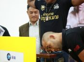 曼谷站称重仪式现场