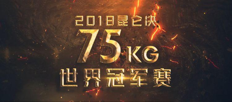 2018年10月22日昆仑决75公斤世界冠军赛 - 战报[视频]